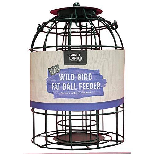 531632889e475 HomeZone Garden Mile Écureuil Étanche Alimentation Cage Graines Noix Fat  Boules avec Sûr Garde Extérieur Cage