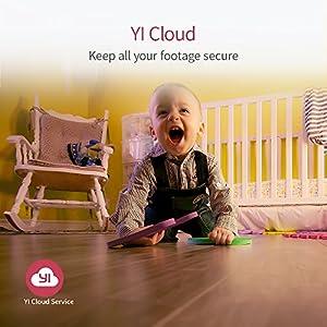YI Camara Vigilancia 1080p, Camara IP, Camara Seguridad WiFi de Interior con Rotación 360°, Detección de Movimiento, Visión Nocturna, Audio de 2 Vias y Nube con App para iOS y Android (Blanco)