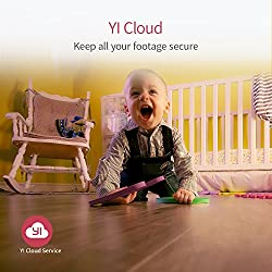 YI Caméra de Surveillance 1080p Caméra de sécurité Caméra IP Espion Bébé Moniteur Wifi avec Objectif Grand Angle Service Cloud Disponible - Blanche