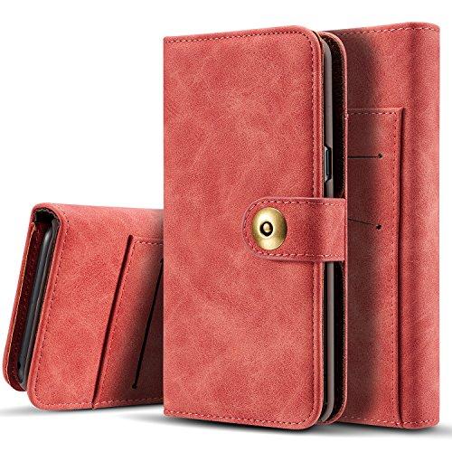 FQIAO Samsung Galaxy S8 Plus Cartera extraíble billetera,PU