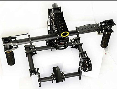 Preisvergleich Produktbild XT-XINTE 3K Carbon Aluminium 3-Achsen-Stabilisierung Griff Stabile Brushless Gimbal-Controller mit Motor BASECAM
