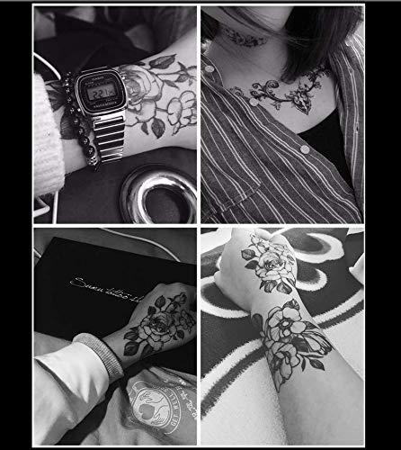Diablo Kostüm Mädchen - ruofengpuzi Temporäre Diablo wasserdichte Tattoo Aufkleber Weiblich Dauerhafte Sexy Versuchung Blume Corsage Arm Brust Große Muster Aufkleber 17St