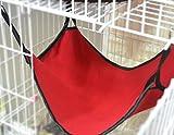 Komener Hamaca para Gatos y Mascotas de Doble Uso, Transpirable, Forro Polar, Color Rojo