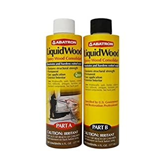 Abatron LiquidWood Kit Epoxy Wood Consolidant 6 oz each, Part A & B