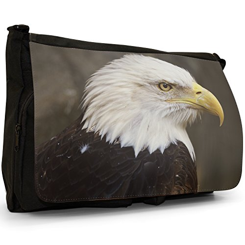 Fancy A Bag Borsa Messenger nero Bald Eagle Eagle Face