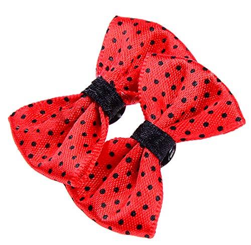 Unbekannt Damen Ohrstecker Polka Dots Punkte 50s Schleifen Ohrringe Schleife 3, 5cm x 2cm