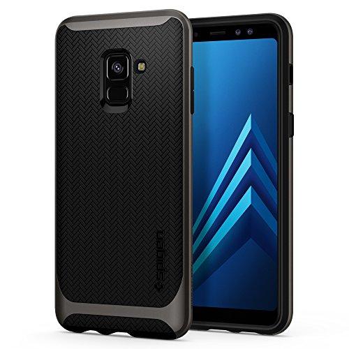 Spigen 590CS22754 Neo Hybrid für Samsung Galaxy A8 2018 Hülle Dual Layer Schutzhülle Case - Gunmetal