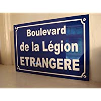 Legion Etrangere placa de calle creación Collector Edition limitada Regalo Original