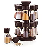 #5: Alice Premium Multipurpose 16-Jar Revolving Spice Rack, Masala Box, Spice Box, Masala Rack (Dark Brown)