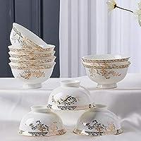 YUNDING Tazón de cerámica/China de Hueso, 10 Piezas/Porcelana China Hecha a