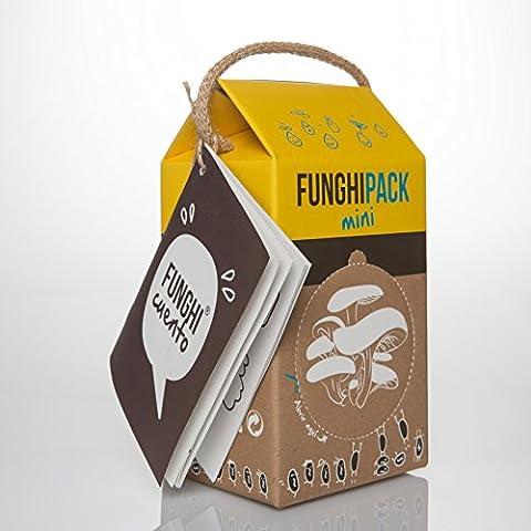 Funghipack Mini (especial niños)-Kit de cultivo de setas sobre posos de café