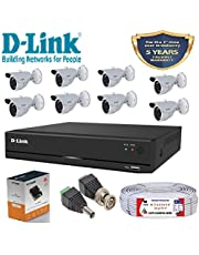 D-Link 8 Channel CCTV KIT 1MP 8PCS 1MP Bullet with All Acce