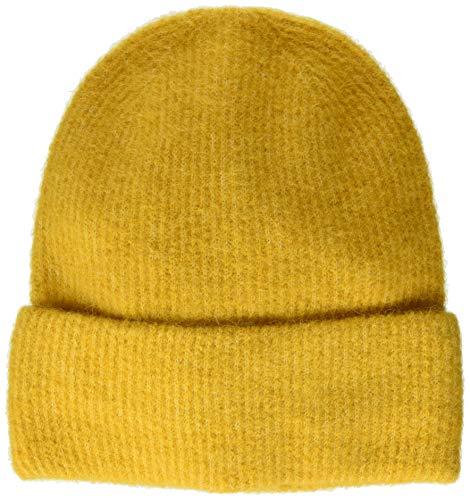 PIECES Damen PCJOSEFINE Wool Hood NOOS Strickmütze, Gelb Nugget Gold, One Size