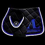Alexandra Ledermann Sportswear Ensemble Tapis et Bonnet Cheval Noir 4 cordelettes...