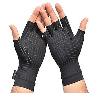Medipaq Kompressionshandschuhe, mit Kupfer, fingerlos, zur Behandlung von Arthritis