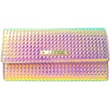 Girly HandBags New Patent Holographic LYDC Purse Fashion Wallet Faux Leather Chameleon Black Pink Boxed Gift