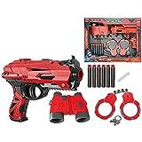 FunBlast High Speed Manual Soft Bullet Gun with 6 Foam Bullets, Handcuffs and Telescope for Kids/Boys/Children   Toy Gun Pistol for Kids