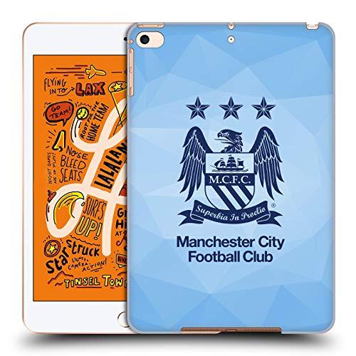 Head Case Designs Offizielle Manchester City Man City FC Himmel Geo Blau Obsidian Crest Geometrisch Harte Rueckseiten Huelle kompatibel mit iPad Mini (2019) -