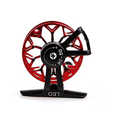 PBHKP Ultra-Light Former Ice Fishing Reels Wheel Fly Fishing Reel Cnc Aluminum New (Red) from PBHKP
