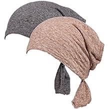 Boboder Sombrero de la gorra de Slouchy del casquillo de la quimio de las  mujeres Sombrero 49e278aa22a1