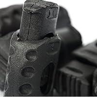 5x de 1orificio Tope de cordón–20mm x 30mm–rojo, negro, azul oscuro, zafiro azul, dorado o Blanco, plástico, negro, 20x30mm