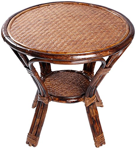 Novelty Cane Art CET10M18R Coffee Table (Brown)