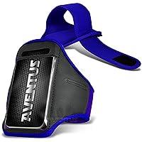 Aventus Samsung Galaxy A7 (2017) Custodia (Blu) Armband Completamente Regolabile Fascia da Braccia Portacellulare Leggera per la Corsa, Passeggiate, Ciclismo, Ginnastica e Altri Sport