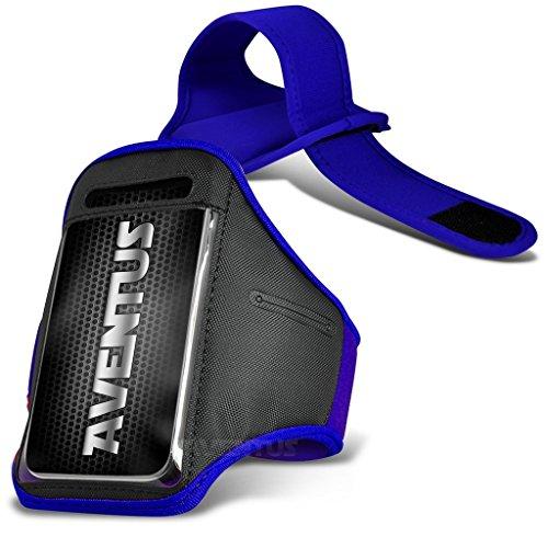 Aventus LG G Vista 2 (Blau) Voll einstellbare Leicht Hulle Armband-Halter-Kasten-Abdeckung Running, Walking, Radfahren, Fitnessraum und andere Sportarten (Lg G 2 Abdeckungen)