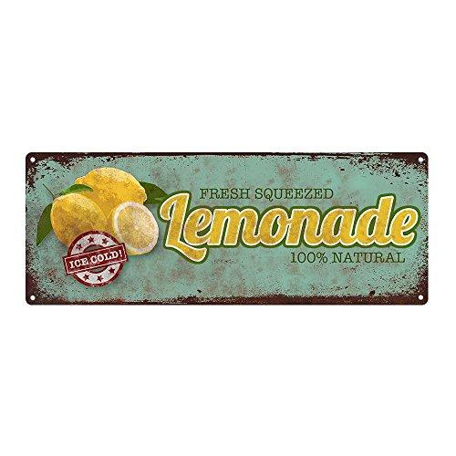 Homebody Accents  Limonade Metall Schild, Küche Dekor, Vintage, Retro, rustikal, Sommer Vintage Küche Dekor