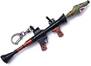 Aolvo Rocket Launcher Schlüsselanhänger, Miniatur Pistole Schlüsselanhänger Modell, Shark Waffe Schlüsselanhänger Metalllegierung Spiele Spielzeug für Exklusives Sammlerstück, Geburtstagsgeschenk