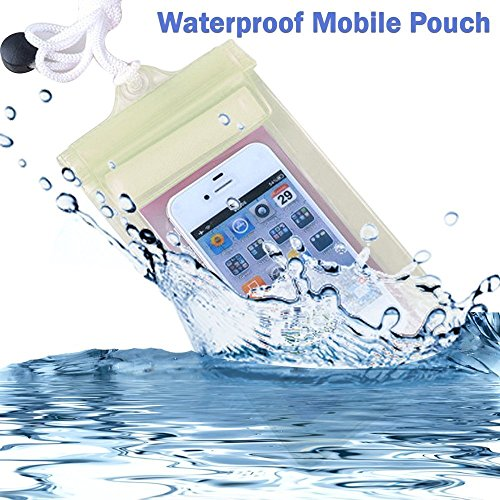 GripIt 100% Waterproof Mobile Pouch Transparent Silicon Cover to protect from dust and water Samsung Galaxy Note 2  available at amazon for Rs.99