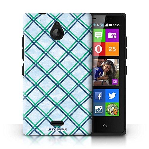 Kobalt® Imprimé Etui / Coque pour Nokia X2 Dual Sim / Vert/Bleu conception / Série Motif Entrecroisé Vert/Bleu