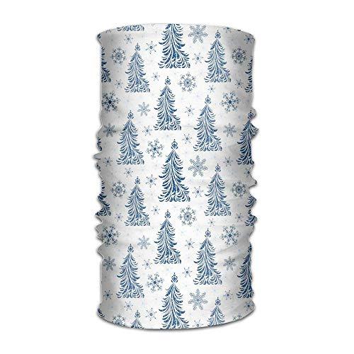 Women Men Turban Abstract Blue Trees Artistic Silhouettes Snowflakes Seasonal Nature Ornaments Fashion Headwear