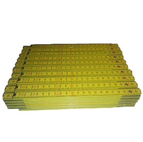 10 Zollstöcke Holz gelb 2 Meter