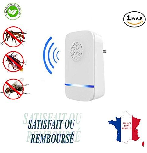 KWIM'S France kwim' S Francia–1–Répulsifs Ultrasonido antimosquitos anti moscas anti cucarachas–Protección ecológica y Natural–Solución eficaz y económica