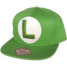 NINTENDO Super Mario Bros Luigi Logotipo del casquillo del Snapback de béisbol (Verde)