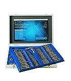 Krino 17012500 - Set Maschi e Filiere M+MF 2÷18 per Garage e Officine - 110 Pezzi