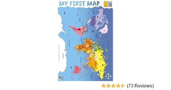 my first world map wall chart wall charts amazon co uk 9781859972625 books
