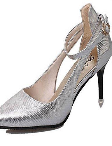 WSS 2016 Chaussures Femme-Habillé / Soirée & Evénement-Argent / Gris / Or-Talon Aiguille-Talons / Bout Fermé-Talons-Similicuir golden-us8.5 / eu39 / uk6.5 / cn40