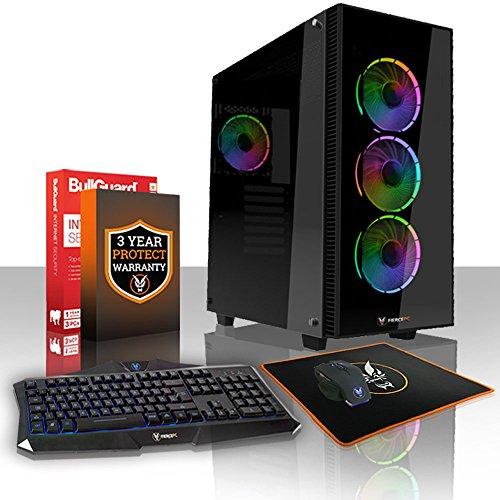 Fierce Guardian High-End Gaming PC Bundeln - Schnell 4.2GHz Hex-Core AMD Ryzen 5 2600X, 1TB SSHD, 16GB 2666MHz, NVIDIA GeForce GTX 1060 3GB, Tastatur Maus (VK/QWERTY) 395952