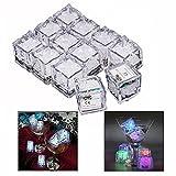 Gearmax 12pcs Hielo Color Colorido LED Flash en la Noche / Decoración de la Boda / Cumpleaños
