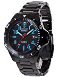 DETOMASO Herren-Armbanduhr Matera Tritium Automatic Blue Analog Automatik DT2027-C