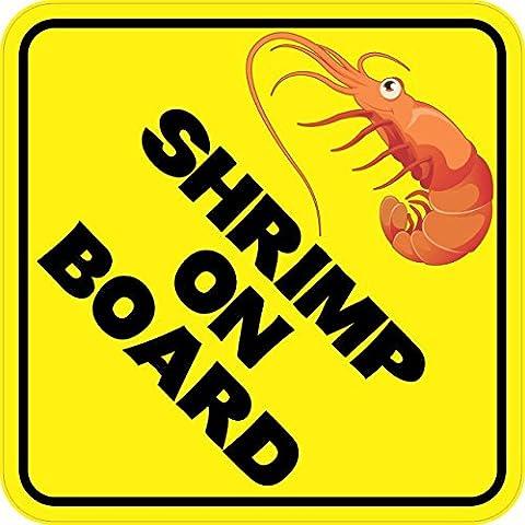 StickerTalk® StickerTalk® Brand 6in x 6in Shrimp On Board Shrimper