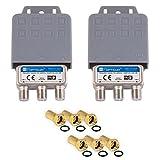 2x DiseqC Schalter Switch 2/1 mit Wetterschutzgehäuse HB-DIGITAL 2x SAT LNB 1 x Teilnehmer /...