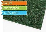 Premium Rasenteppich Patio - Grün mit Noppen - 2,00m x 3,00m