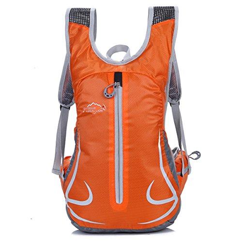 Cuckoo 18L Unisex Radfahren Radfahren Rucksack Nylon Ultra Leichtes Outdoor Reisen Trekking Rucksäcke Wandern Daypack Orange