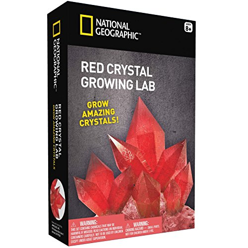 owing Kit – Grow Red Crystals with NATIONAL GEOGRAPHIC (Science Experiment Kits)