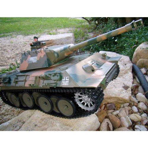 German Panther 2.4GHz-Edition RC ferngesteuerter 1/16 Panzer,Schuss,Sound,Rauch,Komplett-Set RTR