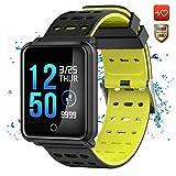 CanMixs Smart Watch CM05 IP68 Wasserdichte Touchscreen-Uhr Fitness Tracker Bluetooth Watch Tracker mit Herzfrequenz-Monitor Schlaf-Monitor Pedometer Schritt Kalorienzähler Kompatibel mit iOS Android