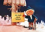 Postkarte A6 +++ SANDMÄNNCHEN von modern times +++ SM IM WINTERWALD - ICH HABE URLAUB +++ KARTENKOMBINAT © MDR, RBB, TELEPOOL GMBH
